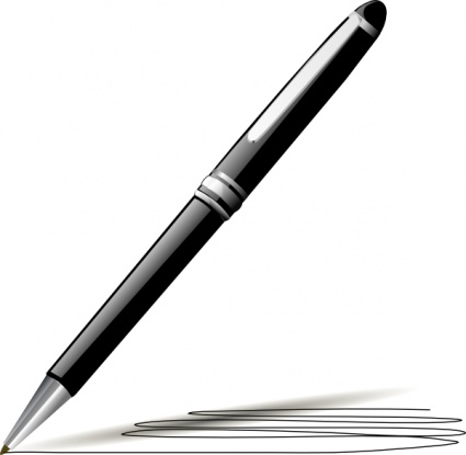 425x415 Pen clipart black and white free images 2