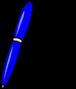 258x299 Blue Pen Clip Art