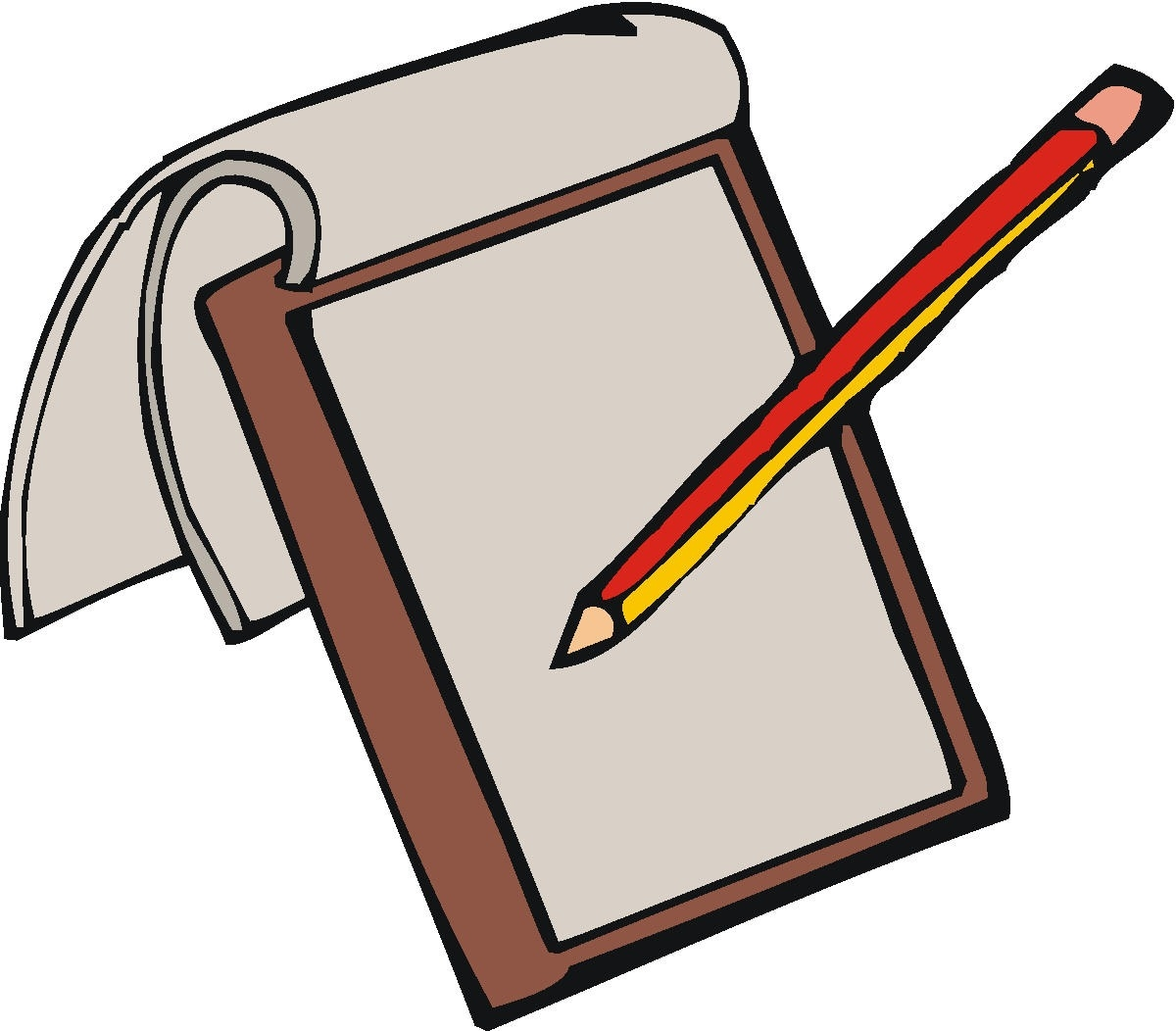 1200x1052 Pen clipart note pad