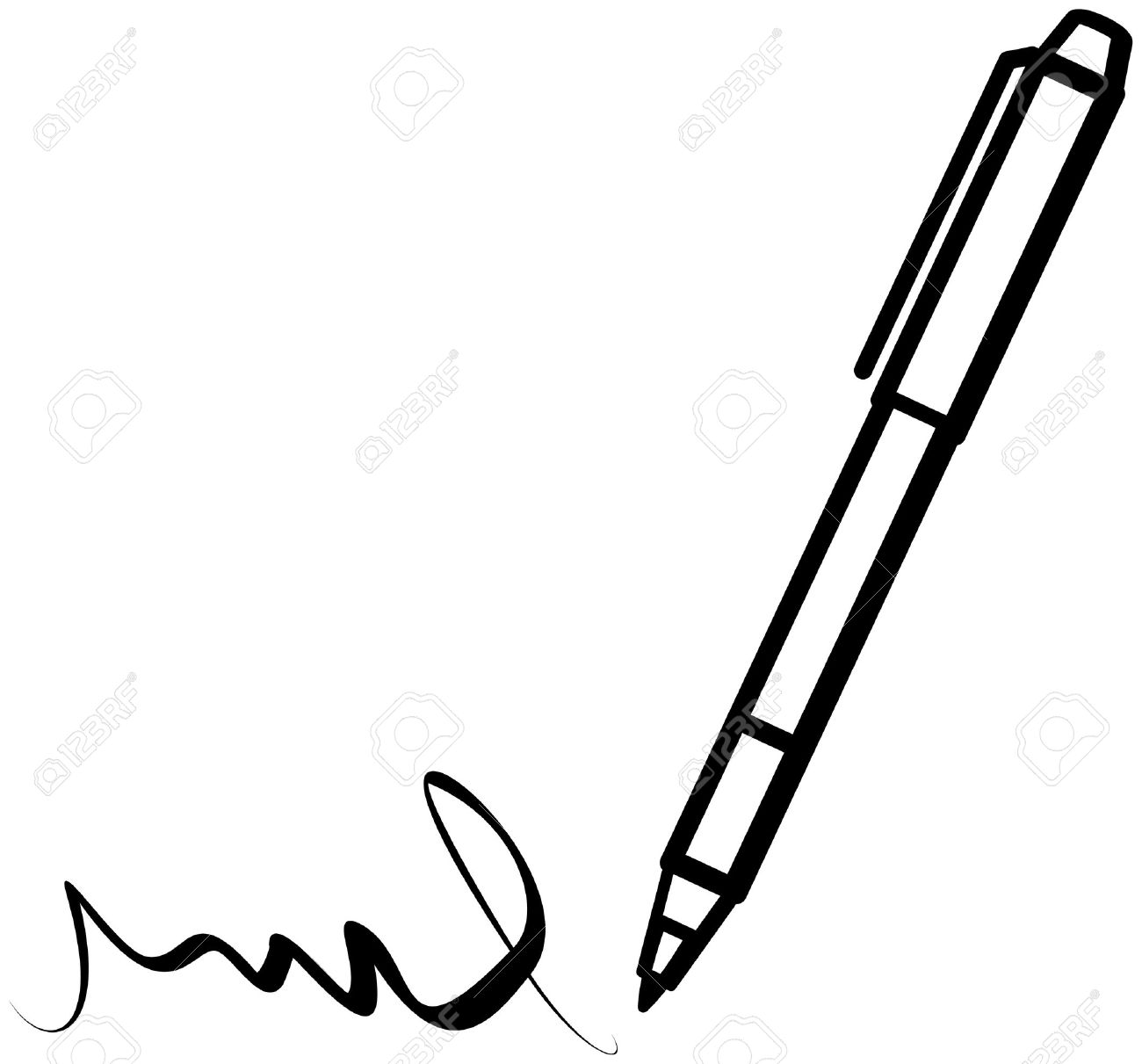 1300x1211 Pen clipart writing