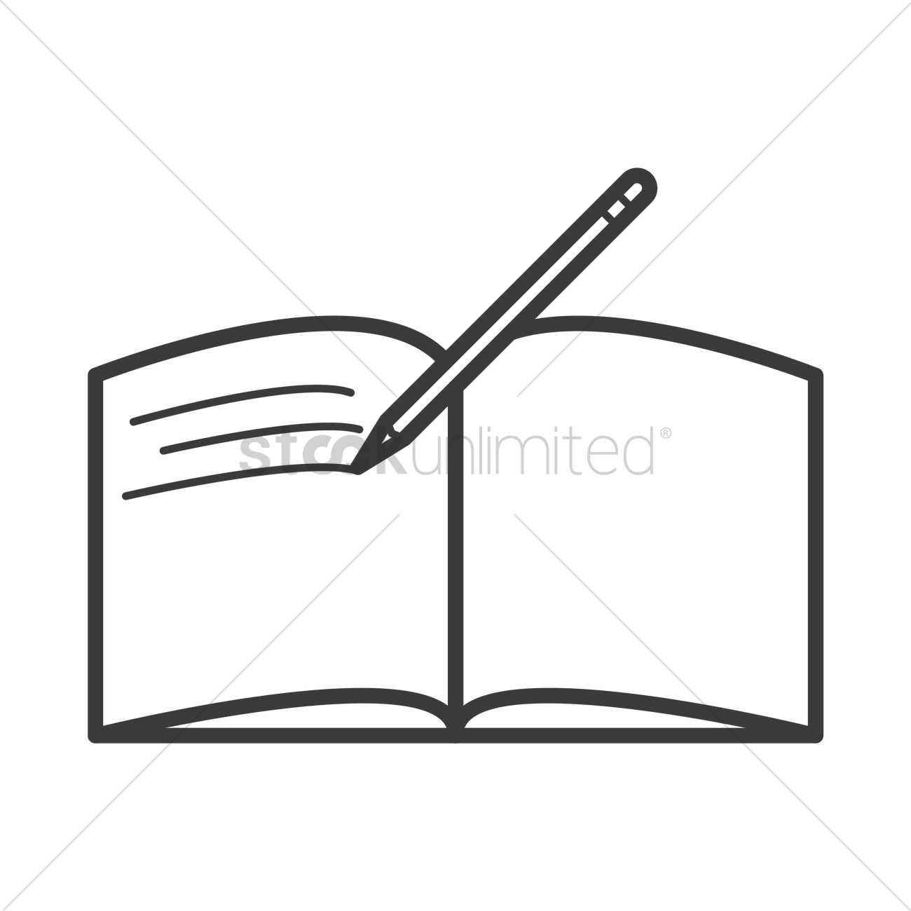1300x1300 Open Book And Pen Clipart Black And White Letters