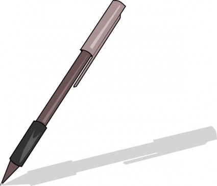 425x364 Pen clipart black and white free clipart images
