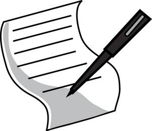 300x257 Pen Clipart Pen Paper