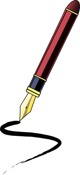 270x587 Ink Pen Clip Art Free Vector 4vector