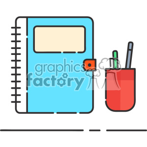 300x300 Royalty Free Book And Pen Clip Art Vector Images 403874 Vector
