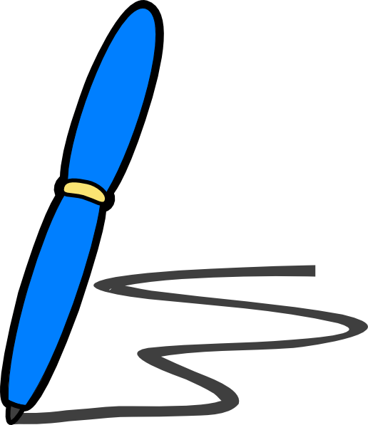 516x597 Blue Pen Write clip art Clipart Panda