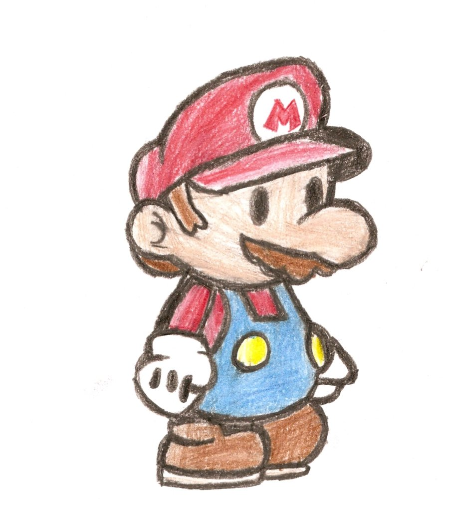 900x1012 Paper Mario Pencil Drawing By Bltspirit