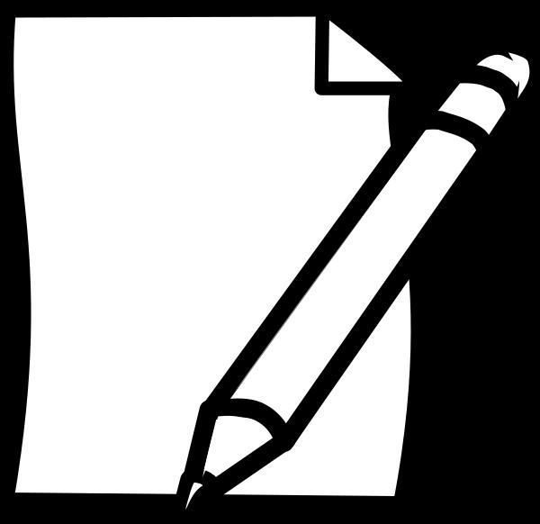 600x582 Pencil Amp Paper Clip Art