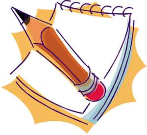 300x275 Pencil And Paper Clipart