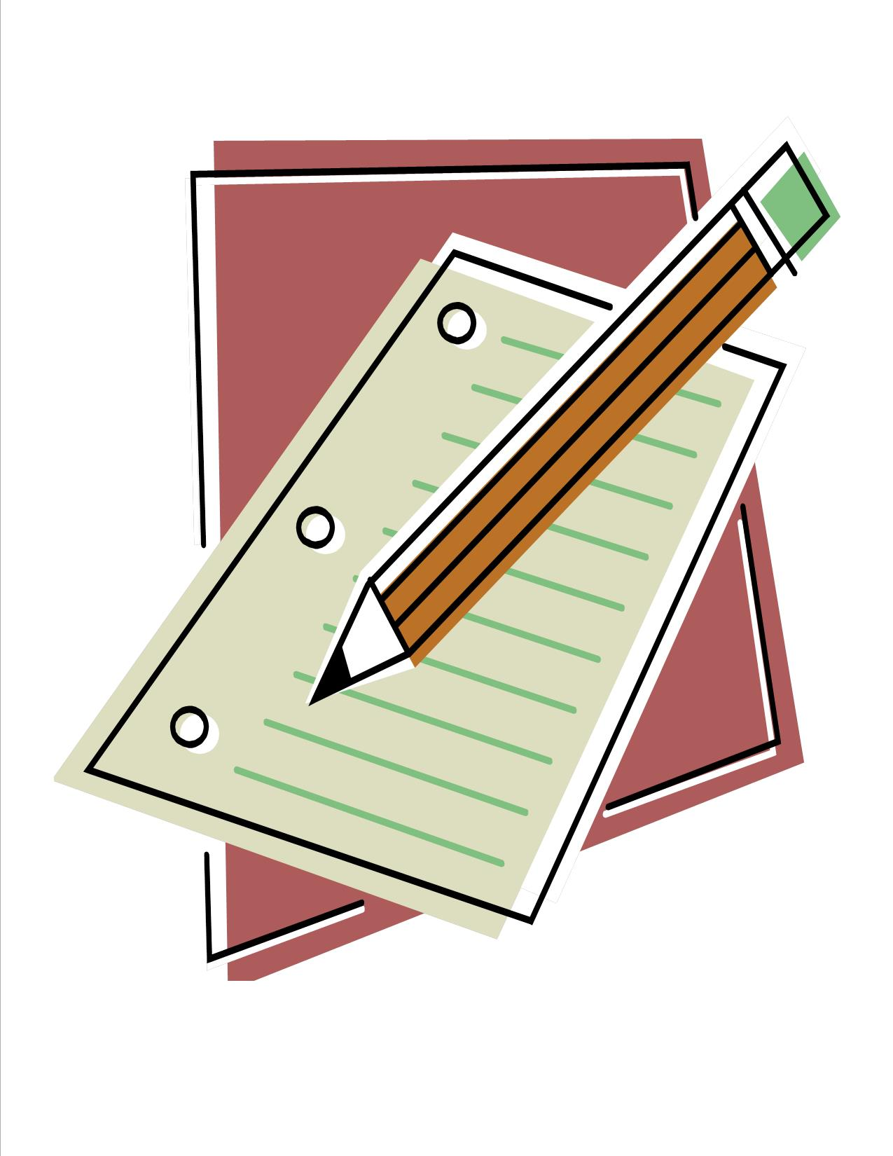1275x1650 Pencil And Paper Clipart