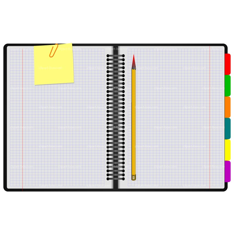 800x800 Pencil And Paper Clipart Image 2