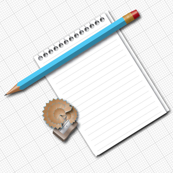 600x600 How To Create A Pencil And Paper Illustration