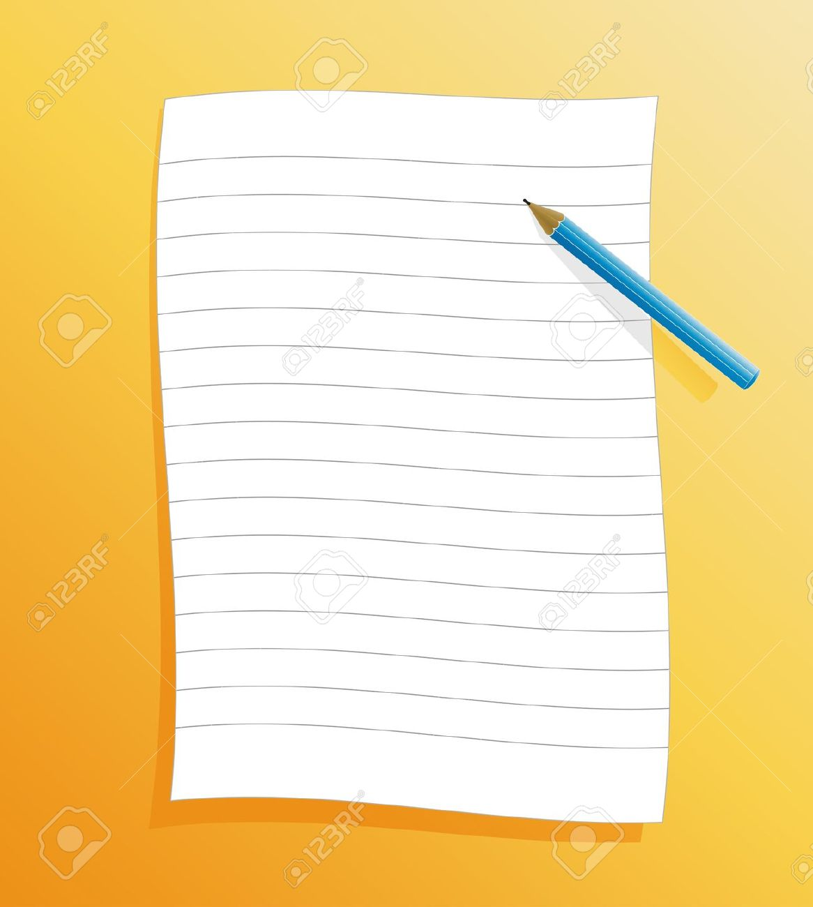 1166x1300 Paper Clipart Lined Paper Pencil How To Write A Business Proposal