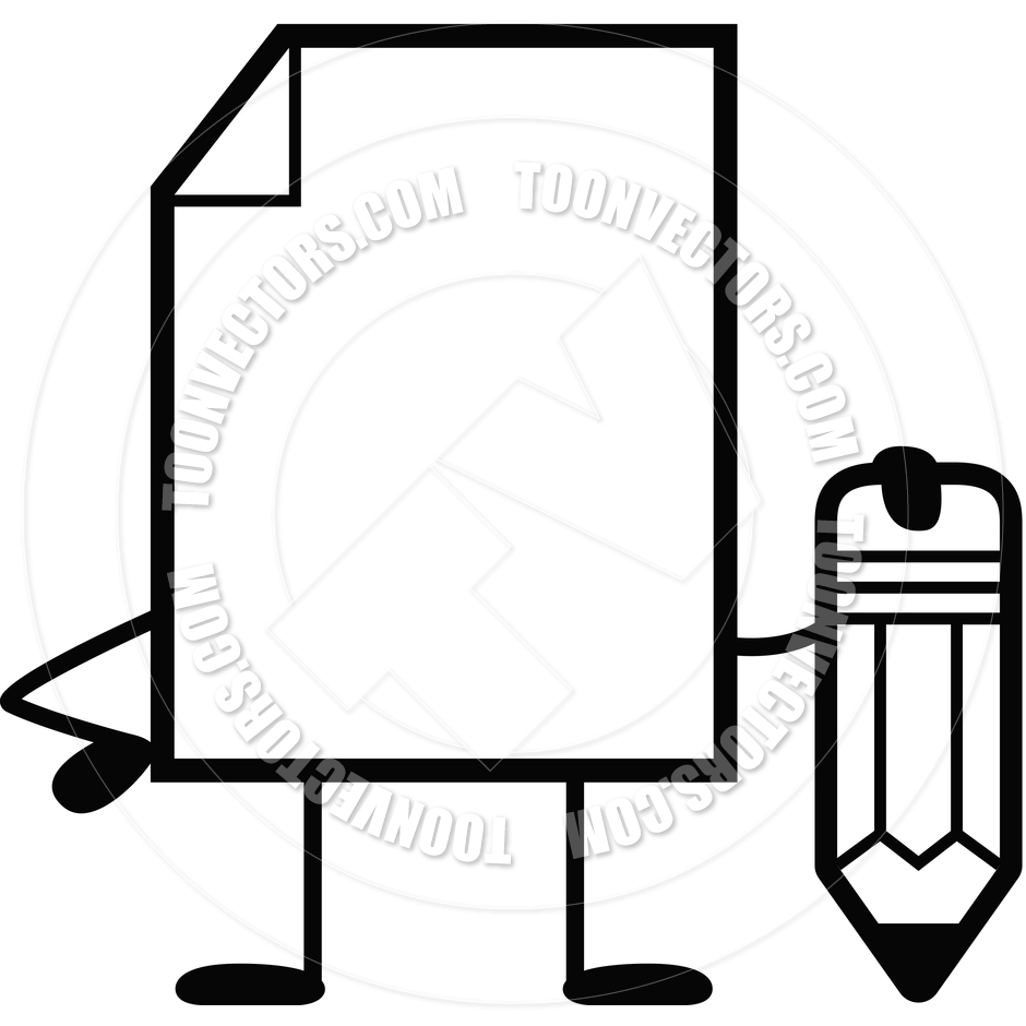 940x940 Paper Pencil Clipart Black And White