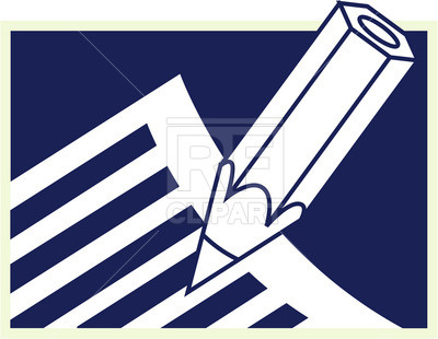 400x310 Pencil And Paper Royalty Free Vector Clip Art Image