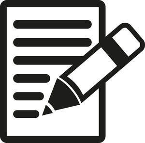 300x295 Recycle Symbol On Paper With Pencil Royalty Free Stock Image