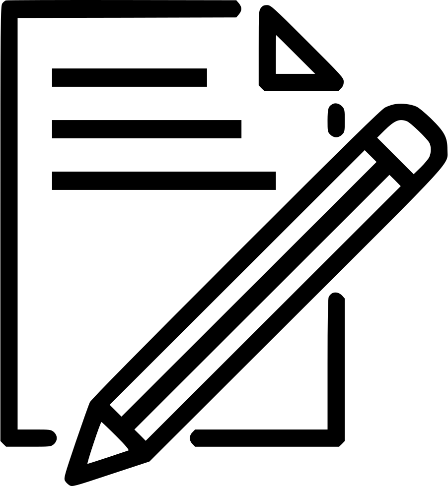 902x980 Document Paper Write Pencil Pen Drawing Svg Png Icon Free Download