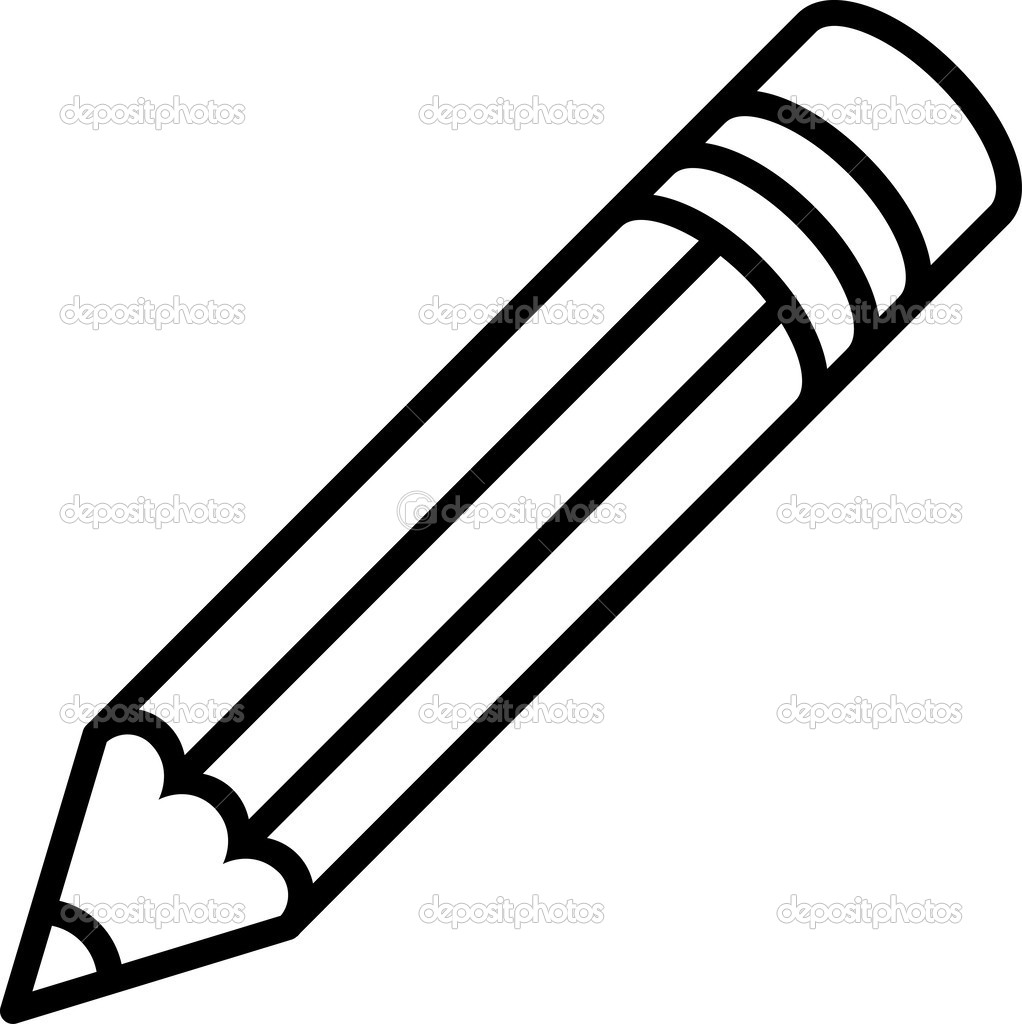1022x1024 And White Pencil Vector Clipart