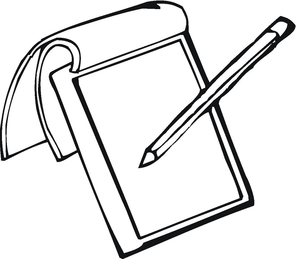 1200x1052 Notepad And Pencil Clipart