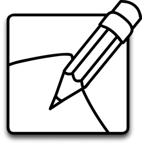 294x300 Pencil And Paper Black And White Clipart Free