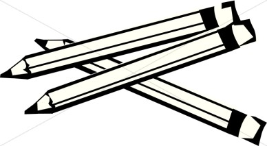 388x213 Pencil Clipart Black And White