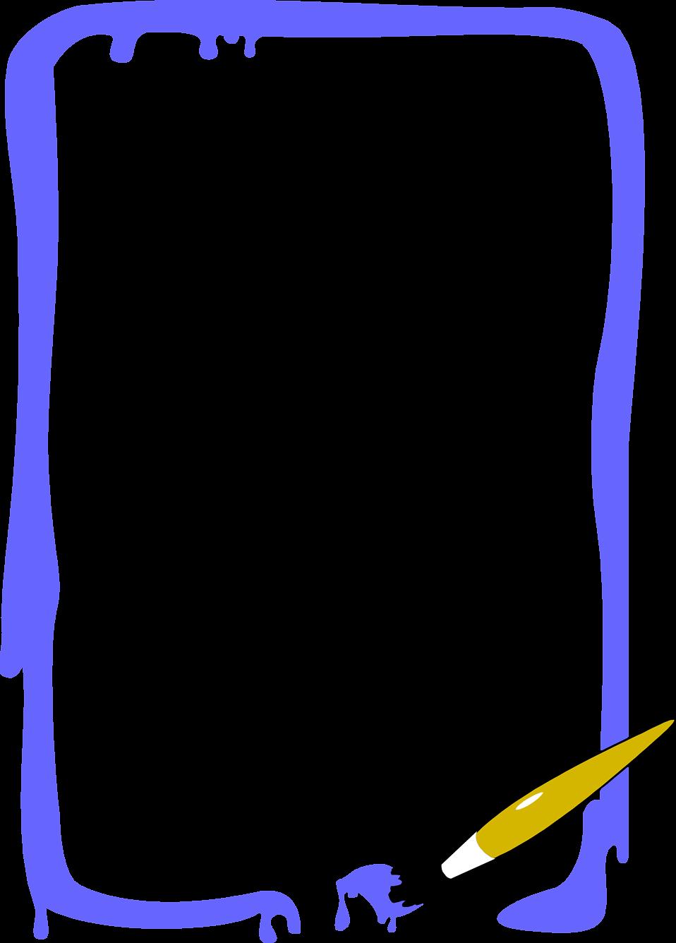 958x1336 Paint Clipart Border
