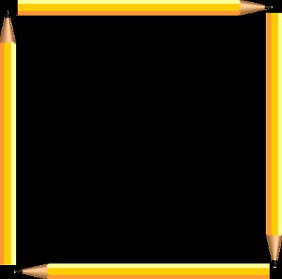 400x396 Pencil Border Clipart