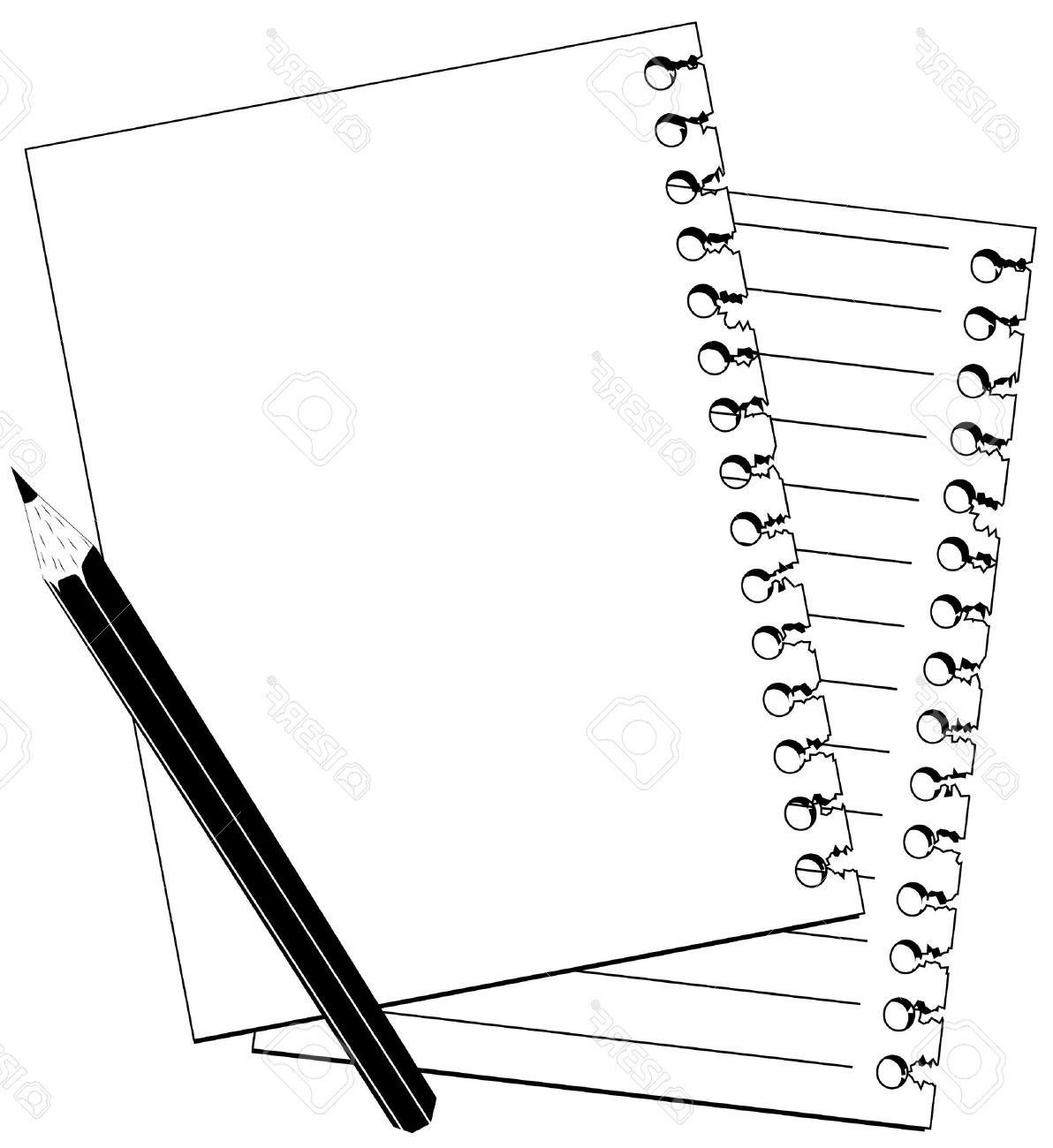 1192x1300 Unique Note And Pencil Stock Vector Page Border Clipart Pictures