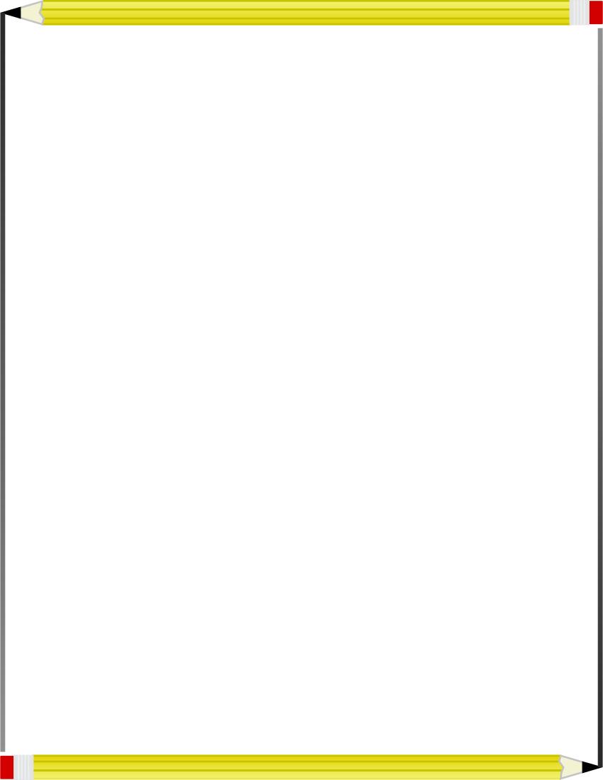 850x1100 Pencil Border Frame