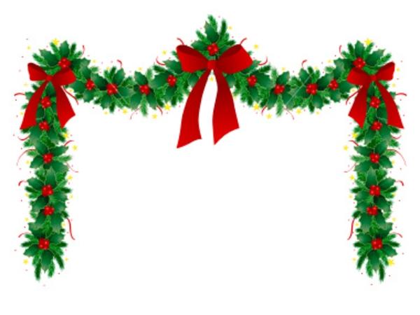 600x450 Christmas Ornament Border Clip Art