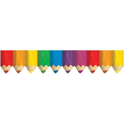 400x400 Colored Pencils Bulletin Board Bordertrimmer Borders