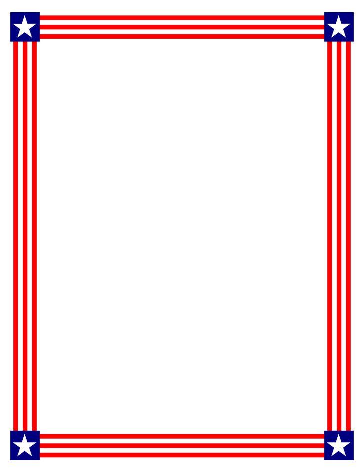 736x952 Frame Clipart Patriotic