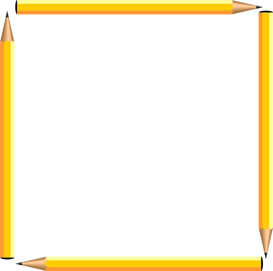 958x948 Pencils Free Stock Photo Illustration Of A Blank Pencil Frame