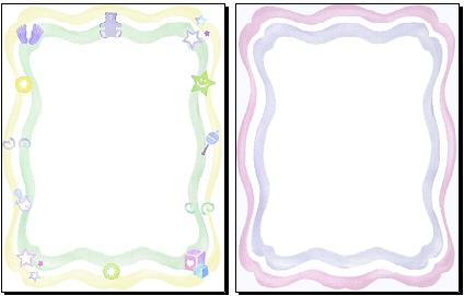 424x271 Baby Borders For Microsoft Word Collection
