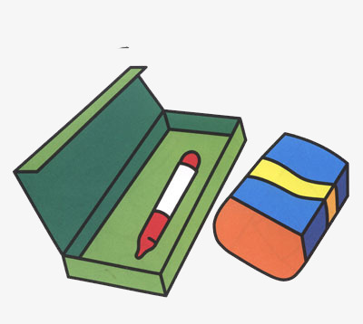 400x358 Vector Material,pencil Box,creative Eraser, Decorative Pattern