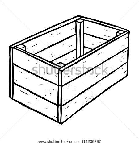 450x470 Box Clipart Wooden Box