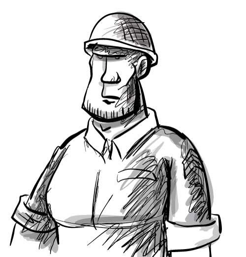 500x522 Drawn Soldiers Cartoon