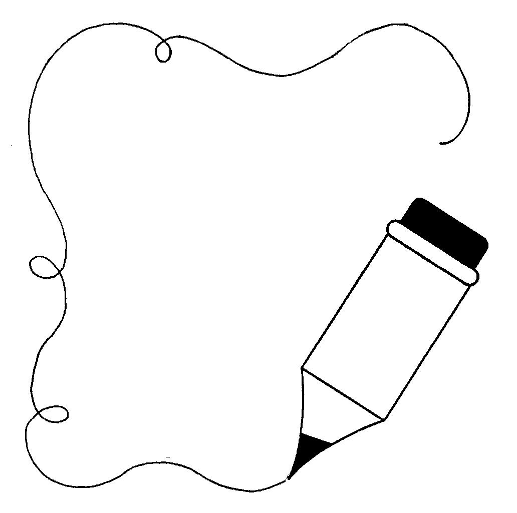 1032x1025 Paper And Pencil Pencil Line Art Free Download Clip On Clip Art