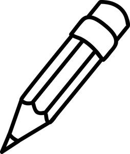 254x300 Pencil Clip Art Black White Clipart Panda