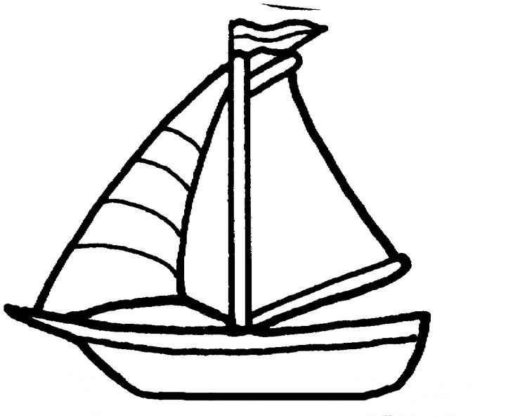 720x595 Sailboat Black And White Drawn Sailboat Easy Pencil And In Color