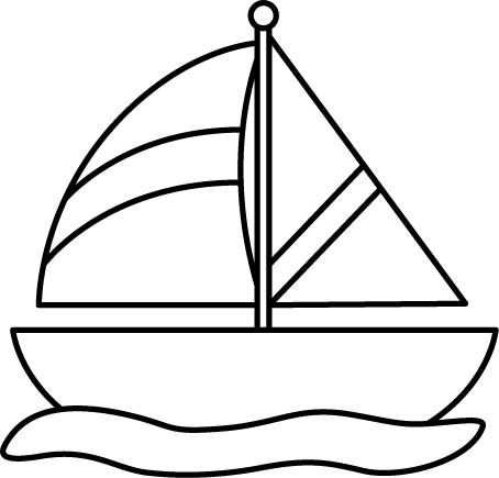 454x435 Sailing Clipart Black And White