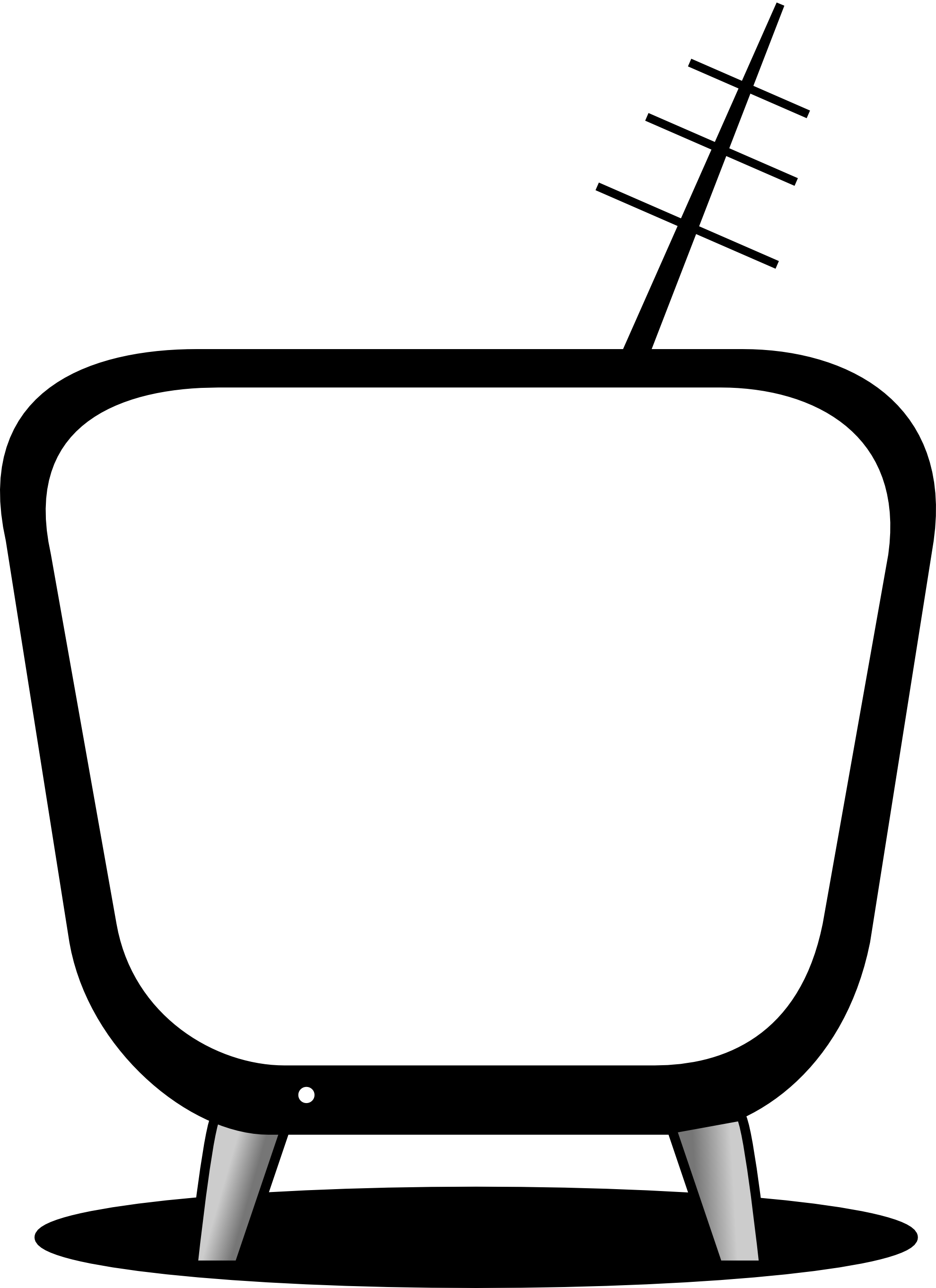 1979x2723 Tv Clipart Black And White