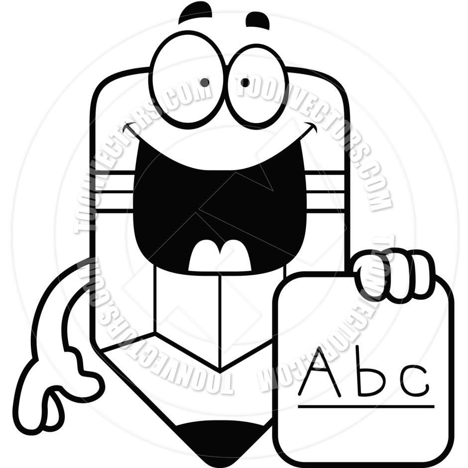 940x940 Cartoon Pencil Alphabet (Black And White Line Art) By Cory Thoman
