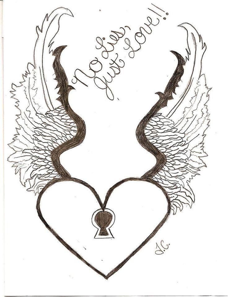 736x959 Drawn Wings Heart