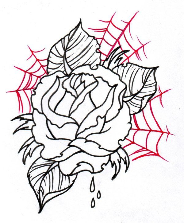 600x726 24 Best Elbow Rose Sketch For Tattoo Images Pink