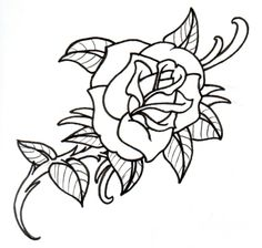 236x224 Rose Tattoo Pencil Drawing By Michelle Nordeen