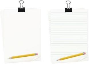 310x233 Paper And Pencil Clip Art Pencil And Paper Clipart Stonetire Free