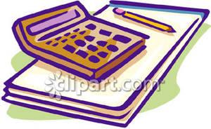 300x184 Calculator And Pen Clip Art Cliparts