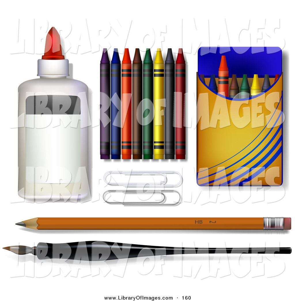 1024x1044 Clip Art Of A Glue, Crayons, Paper Clipars, Pencil And Calligraphy