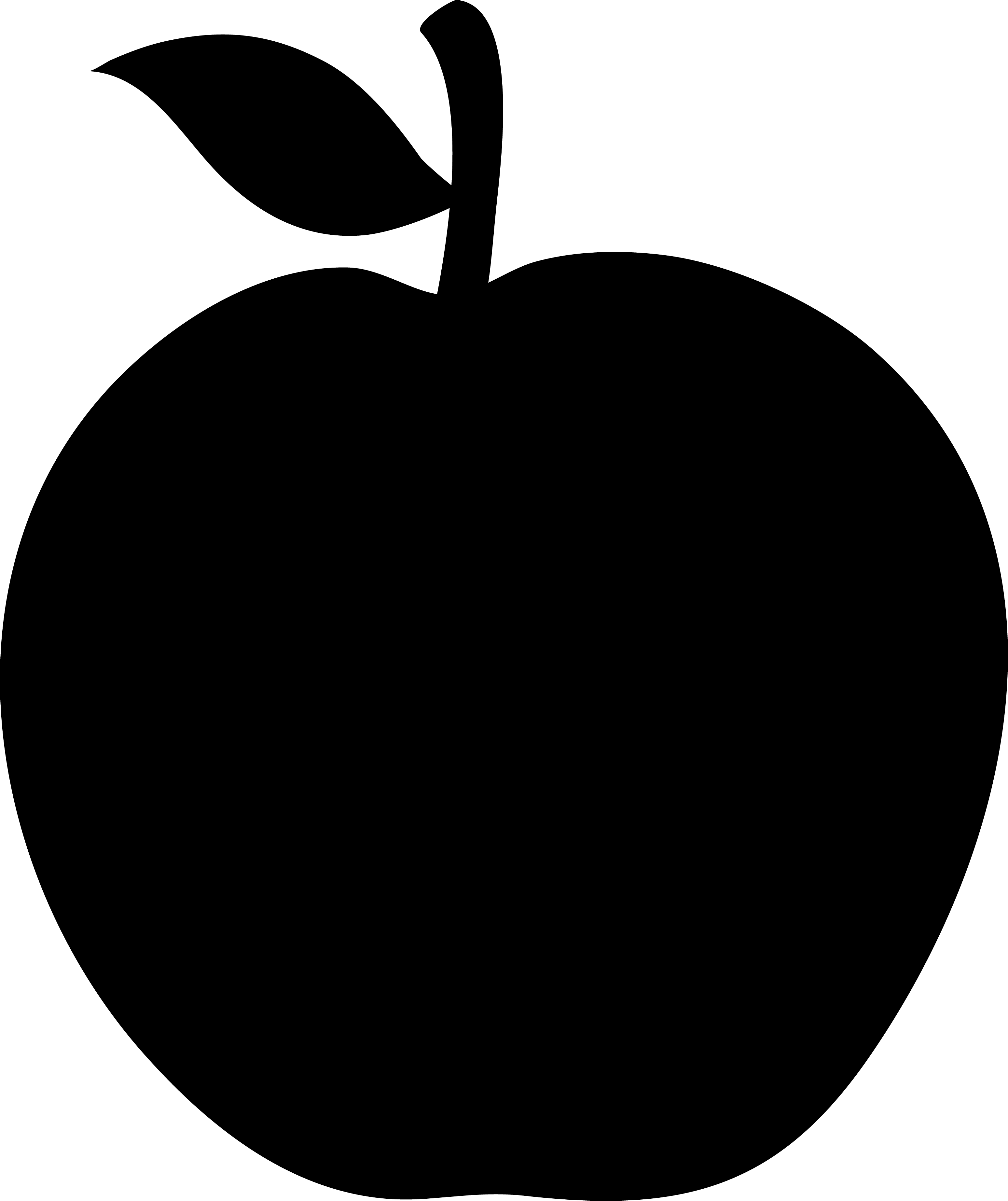3097x3689 Apple Clipart Silhouette
